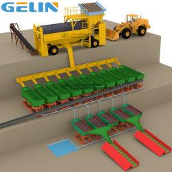 Épurateur rotatif mobile Trommel China Mining Prix du fournisseur de la machine pour les mines de diamant or sable alluvionnaires lavage