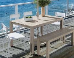 Het houten Meubilair van het Restaurant van de Tuin van de Stoel van het Terras van de Eettafel Openlucht