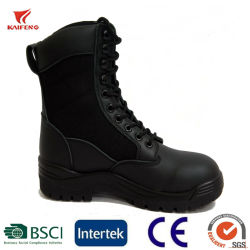 Caucho de alta calidad de cuero zapatos de nieve botas militares