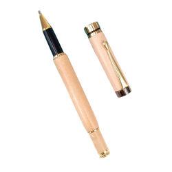 木製の Rollerball のペンの個人化されたロゴ自然なメープル木製のローラーペン