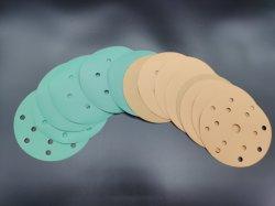 5 pulgadas de 6 pulgadas de color verde amarillo blanco Papel lija de papel de lija