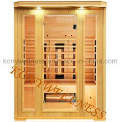 De veel Infrarode Droge Zaal van de Sauna die van de Dollekervel van Canada met de Grote VoorMuur van het Glas, de Droge Koepel van de Sauna van het Bad als Apparatuur van de Schoonheid van de Gezondheid wordt gemaakt