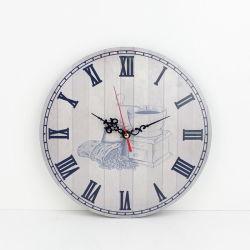 Orologio caldo del MDF di sublimazione di vendita per l'orologio rotondo di legno della parete dell'oggetto d'antiquariato della parete (annata) per la decorazione domestica