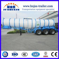 Sammelbehälter-halb Schlussteil des Schwefelsäure-Tanker-schwerer LKW-Schlussteil-20000L flüssiger chemischer