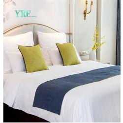 Het in het groot Hoofdkussen van de Agenten van het Bed van de Grootte van de Koning van de Slaapkamer van het Hotel van het Ontwerp van het Af:drukken van de Bloem Decoratieve