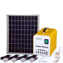 Mini sistema a energia solare con l'indicatore luminoso di 3W LED per la casa