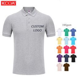 شعار مملوء باللون الرمادي الداكن مخصص Plain Cotton MPolo