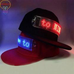 L'input luminescente di Bluetooth del telefono mobile del cappello della visualizzazione del cappello intelligente novello del tabellone per le affissioni del LED stampa il soddisfare LED della visualizzazione di LED del cambiamento di linguaggio di sostegno dei reticoli del testo