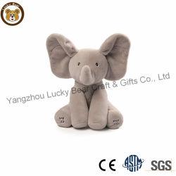 Giocattolo di conversazione elettronico Peekaboo dell'animale farcito dell'elefante