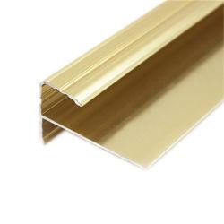 Usine directement de l'aluminium nez anti-patinage de l'Escalier de pièces de profil