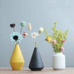 Prix bon marché à la main dessus de table la prise de fleur Nordic Vases en céramique