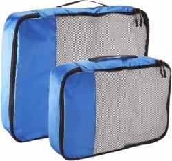 Arbeitsweg, zum der Pakete zu empfangen umfaßt 4mal - 2 Größe und zwei groß, blauer Speicherbeutel