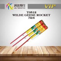 T0512-Wild Gänserocket-Qualitäts-niedriger Preis-im Freien pfeifende Flugrocket-Feuerwerke
