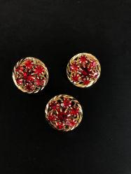 패션 악세사리, 의복 부속품, 금속 합금 단추 플러스 빨간 시리즈 형식 다이아몬드