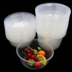 La vaisselle jetables jetables conteneur alimentaire bol en plastique avec couvercle