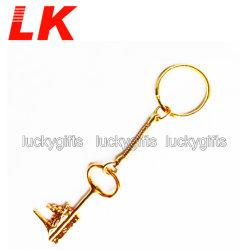 Neuer Entwurfs-preiswerter nach Maß Firmenzeichen-Leerzeichen-Metallhäkelarbeit-Haken-Funkeln-Schlüssel Keychains