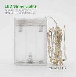 2 м 5 м 10м медь серебристый провод светодиодные индикаторы строк водонепроницаемый праздник для освещения волшебная Елочные свадебное оформление