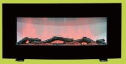 """34"""" Wand montiert elektrischen Kamin mit gebogenen Glas Panel"""