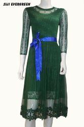 레이스 썸머 캐주얼 반팔 긴여성용 패션 의류 드레스