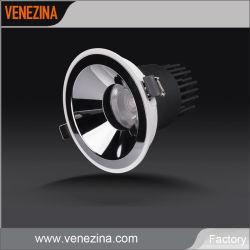 Коммерческие Светодиодный прожектор початков 15W/20W/25 Вт фонаря направленного света Gold/Mirror/черный отражатель лампы потолочного освещения в помещении затенения