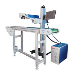 20W 30W COURONNE ABS PVC Aluminium de la plaque en acier inoxydable Nom Flying machine de marquage au laser à fibre