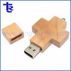 Speicher-Stock der Holz USB-Laufwerk-Kreuz-Form-USB2.0