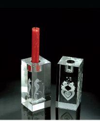 Kristallkerze-Halter mit Laser 3D nach innen, China-Kristall, Kristall K9