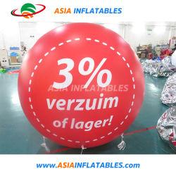 오프닝 이벤트를 위한 헬륨팽창식 벌룬 주위에 인쇄된 광고
