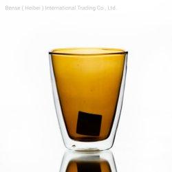 熱絶縁性タイプハンドメイドの二重壁ガラスコップのコーヒーカップ ガラス製品