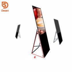 Facendo pubblicità al totem selezionare il giocatore dell'annuncio dello schermo di tocco di 32 pollici che fa pubblicità allo schiocco dei videi del LED