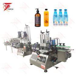 Jugo embotellado de agua automática de llenado de aceite de máquina de embalaje Línea de producción