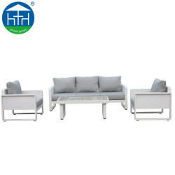 Moda moderno salão de vime usados sofá de canto do pátio mobiliário de Ajuste