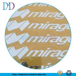 Adesivo plástico personalizado impressão de etiquetas de logotipo de Metal