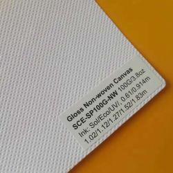 Tissu de toile de polyester de solvant Sounda