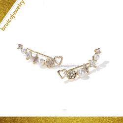 Dernière élégant Zircon Earring jaune d'argent plaqué or Bijoux de conception en étoile Earring
