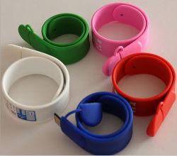 Nouveau design du silicone Slap Bracelet Bracelet USB Lecteur Flash USB Logo personnalisé 128Mo 1 Go