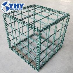 Alambre galvanizado recubierto de PVC malla soldada Gabion Box de la jaula de piedra