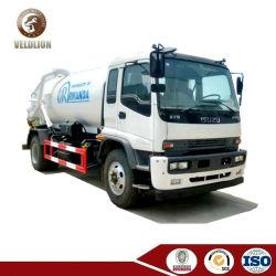 Isuzu 10000L 10cbm 10m3 de 12 toneladas de aguas residuales de camiones depósito de aspiración vacío