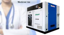無声オイル薬剤の準備工業のための自由な回転式ねじ空気圧縮機