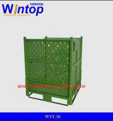 Plegable plegable apilable de malla de alambre de acero de metal de almacenamiento de palets&Cage /Caja de aceropara la venta