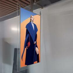 43дюйма висящих кнопки Двусторонняя ЖК монитор в окне магазина Digital Signage - подставка для дисплея электронная рамка для фотографий