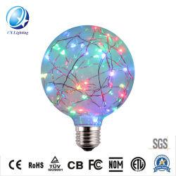 Decoración de Navidad la iluminación de 220V, el color RGB Flash E26 E27 Cable de cobre de 1,5 W Bombilla de luz LED RGB-G95 Diamond
