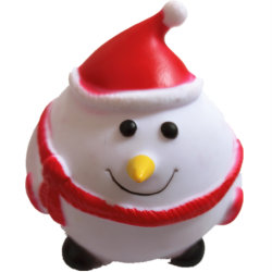 熱い販売のクリスマスの主題ペットおもちゃの製造業者プラスチックPVCフタル酸塩の自由なビニールの冬のスノーマンの咀嚼のきしむ音の飼い犬のおもちゃ
