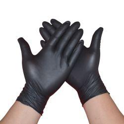 11 Zoll-lange Handgelenk-Antibeleg-Vinylhandschuh-Wegwerffunktions-sichere Handschuhe im Schwarzen
