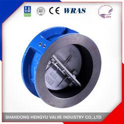 DIN JIS padrão ANSI de Ferro Fundido chapa dupla válvula de retenção