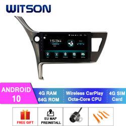 Android Witson 10 aluguer de DVD de navegação GPS para 2017 Toyota Corolla versão Asiática 4GB de RAM flash de 64 GB tela grande