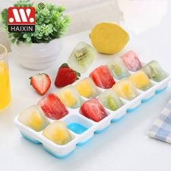 Heiße Verkaufs-Nahrungsmittelgrad-Eis-Würfel-Tellersegment-Form mit Kappe