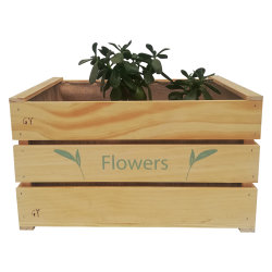 Stand du semoir du semoir en bois Terrasse Balcon fleur plante Semoir vertical