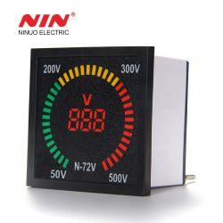 72mm*72mm en forme de boîtier indicateur 0-550V AC voltmètre la tension d'affichage numérique à LED de compteur