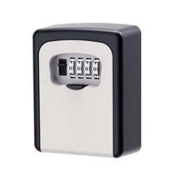 Caja de Cerradura de Llave Segura para Montaje en Pared con Combinación de 4 Dígitos